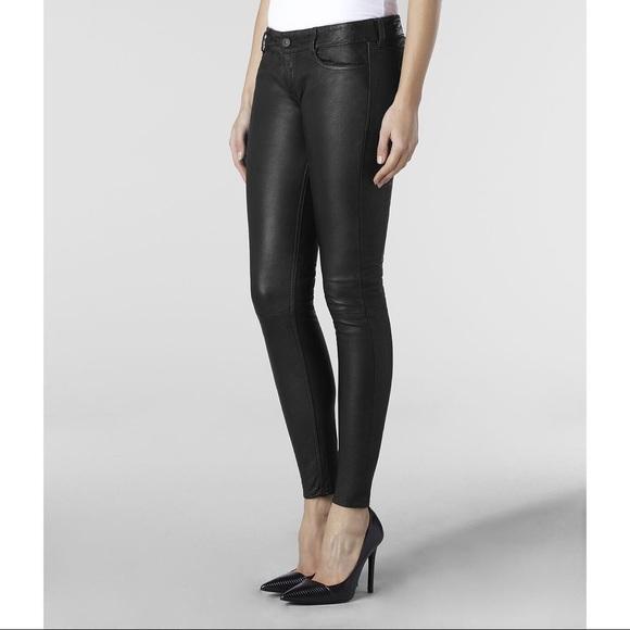 ac379d97a03 All Saints Pants - All Saints Harrah Pipe Skinny Pants Leather